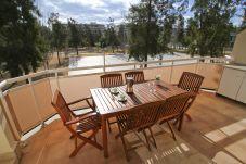 Alquiler apartamento en La Pineda con piscina. Terraza RISCOS