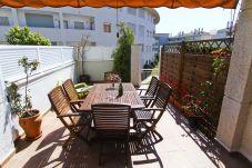 Alquiler casa Adosada vacaciones en Cambrils. Terraza MAGICA