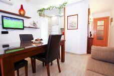 Apartamento vacacional en Cambrils 2 ocupantes. Salon Comedor MANUELA