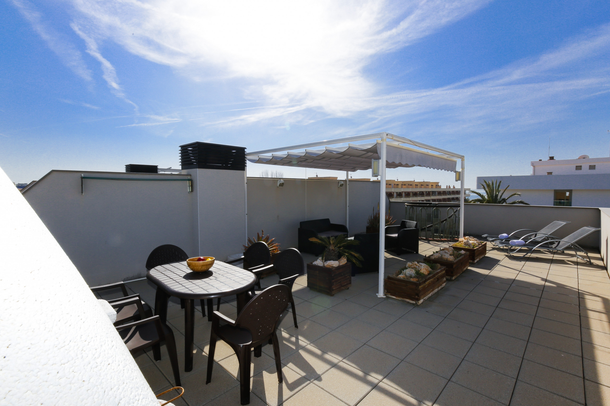 ATIC with solarium terrace and barbecue  Beach at 100m